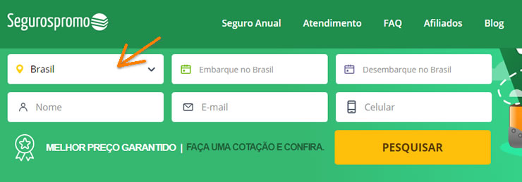Seguro viagem para viajar pelo Brasil
