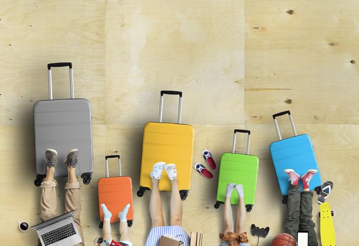 bagagem viagem internacional