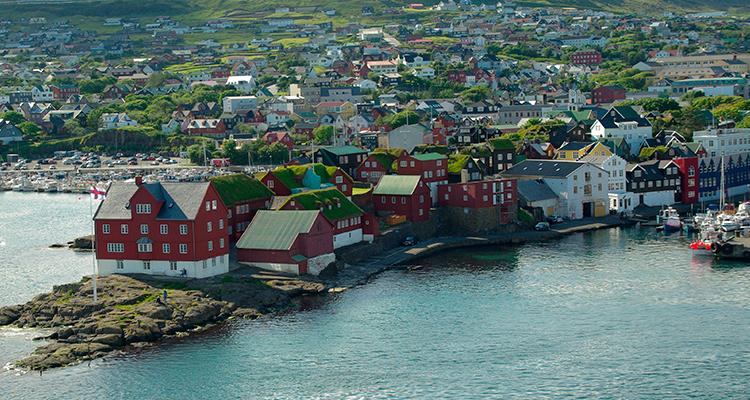 Ilhas Faroe Aurora Boreal