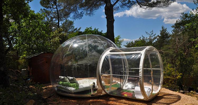 Durma em uma bolha
