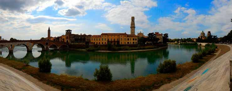 Viajar sozinha para Verona, Itália