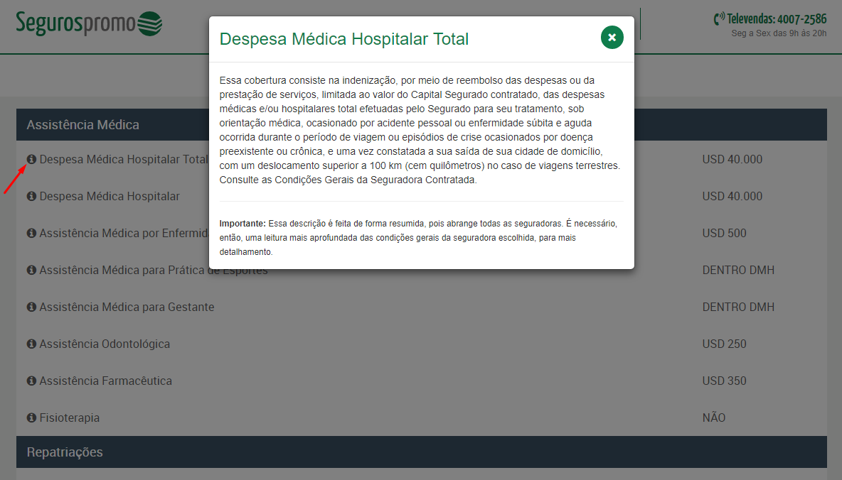 comparar seguro viagem despesas médicas hospitalar