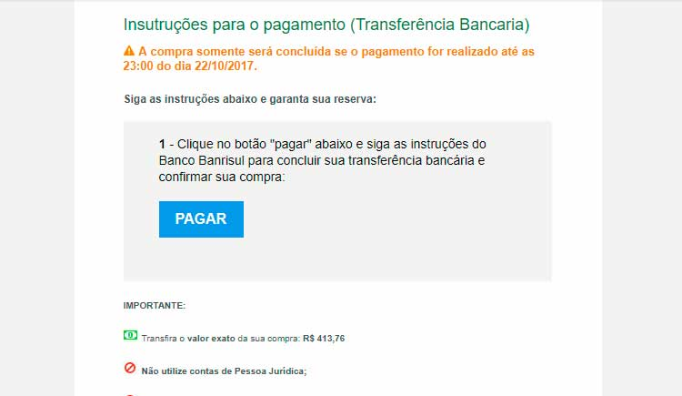 Transferência bancária pelo Banrisul