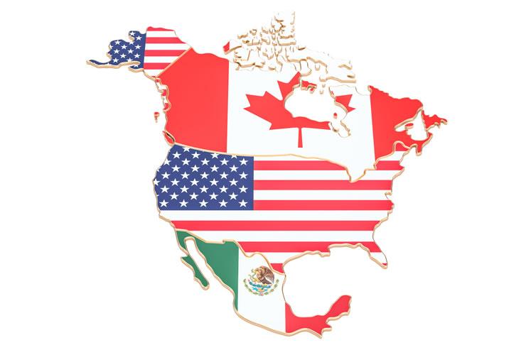 mapa América do Norte