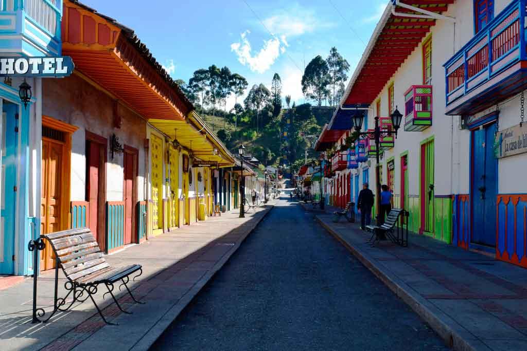 Rua de Salento, na Colômbia