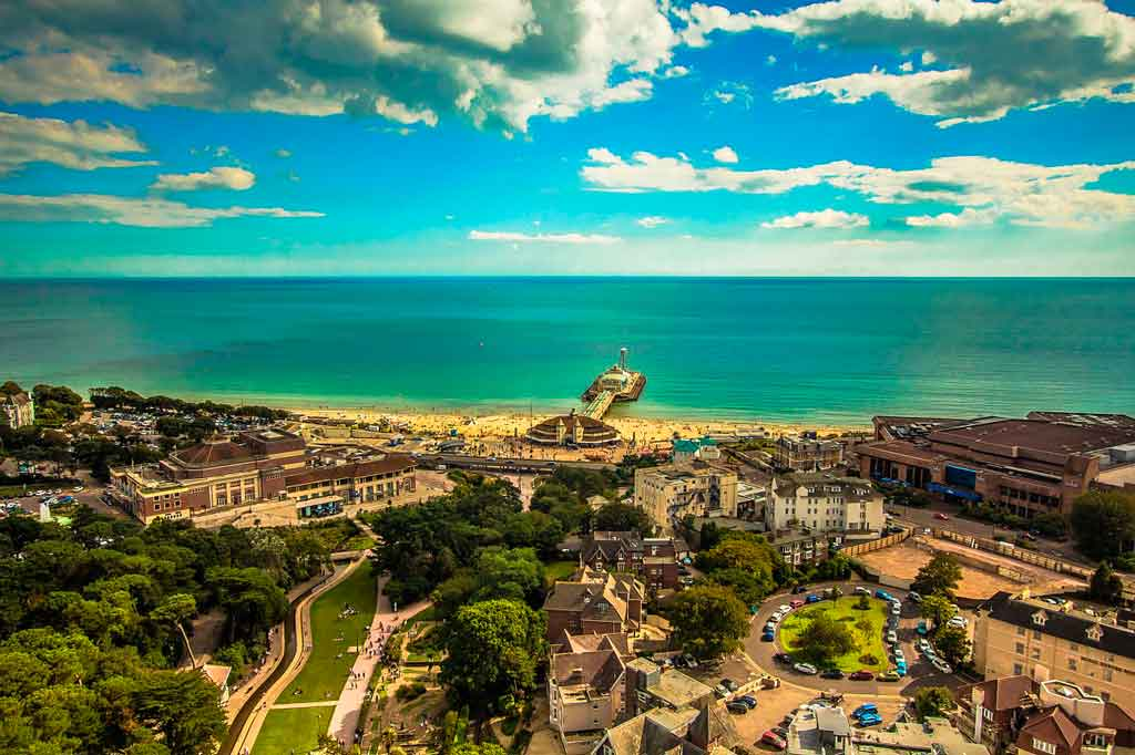 Foto aérea de Bournemouth