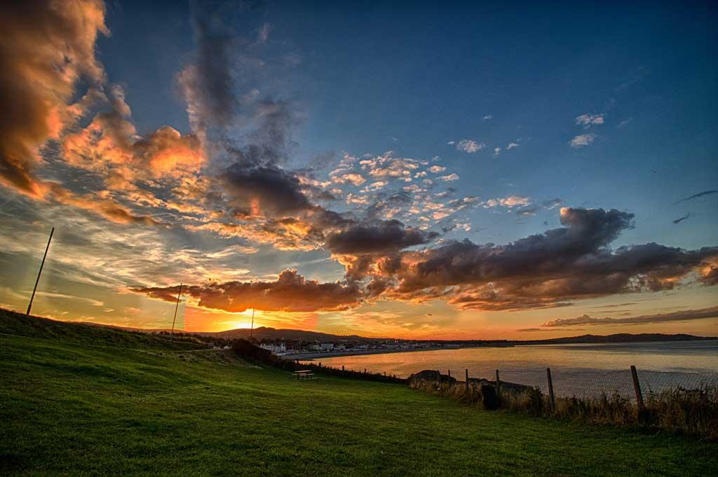 Pôr do sol em Bray