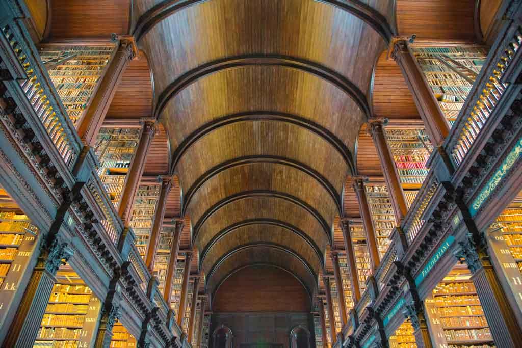 Foto do Trinity College, em Dublin