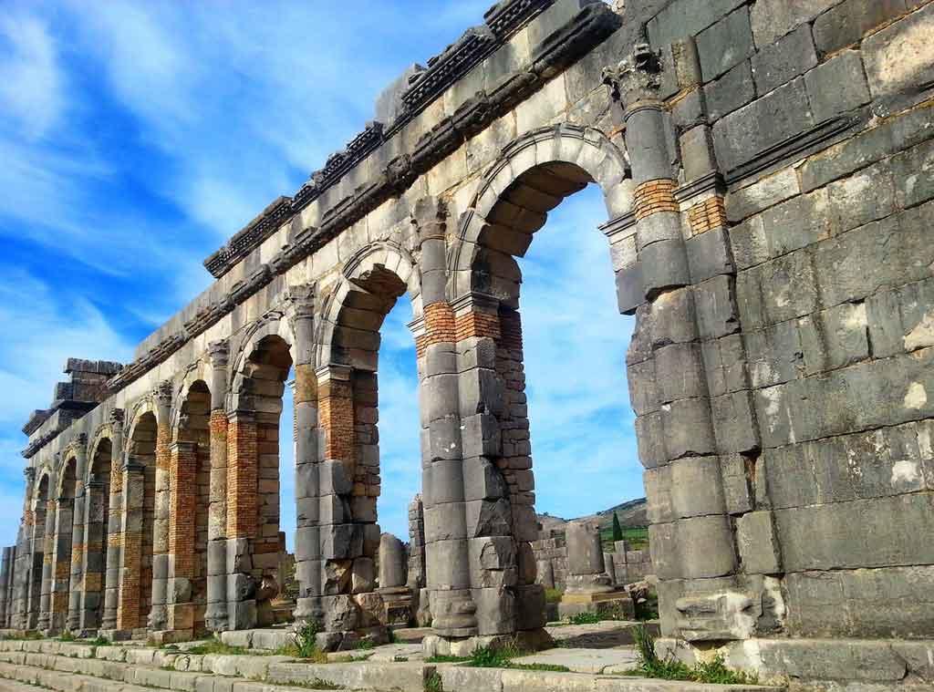 Ruínas gregas em Volubilis