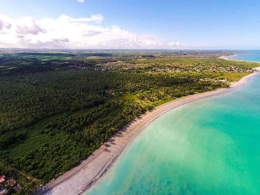 Vista aérea da praia de Ipioca