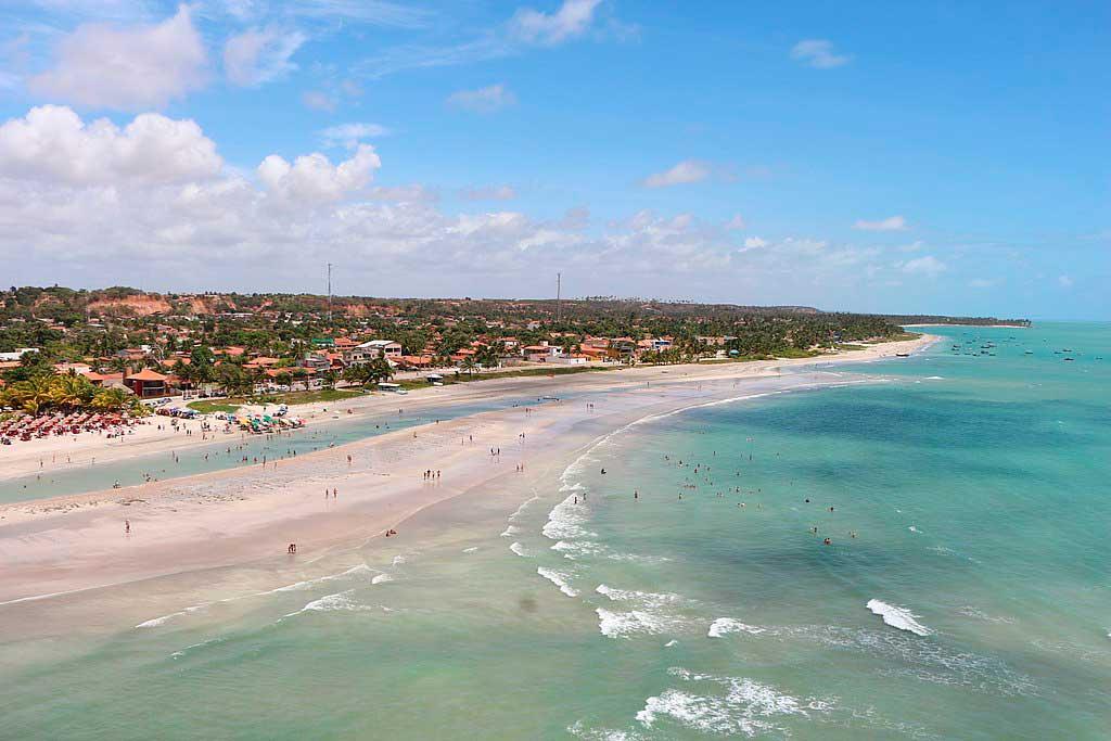 Vista aérea da praia de Paripueira