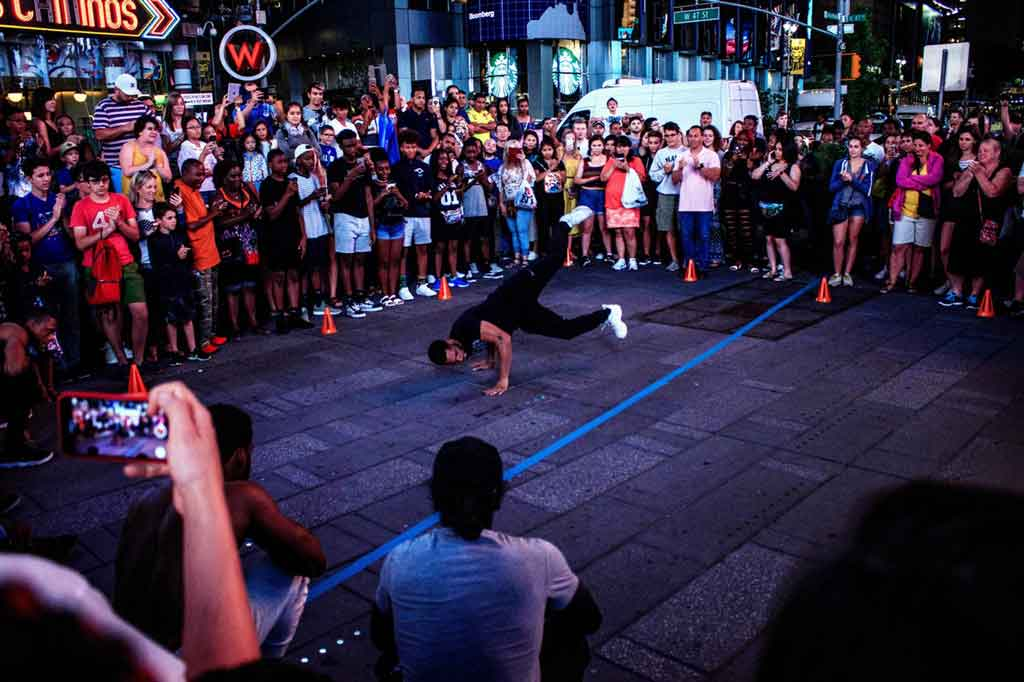 Breakdance na Times Square