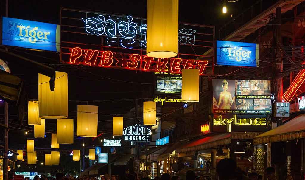 Pub Street em Camboja
