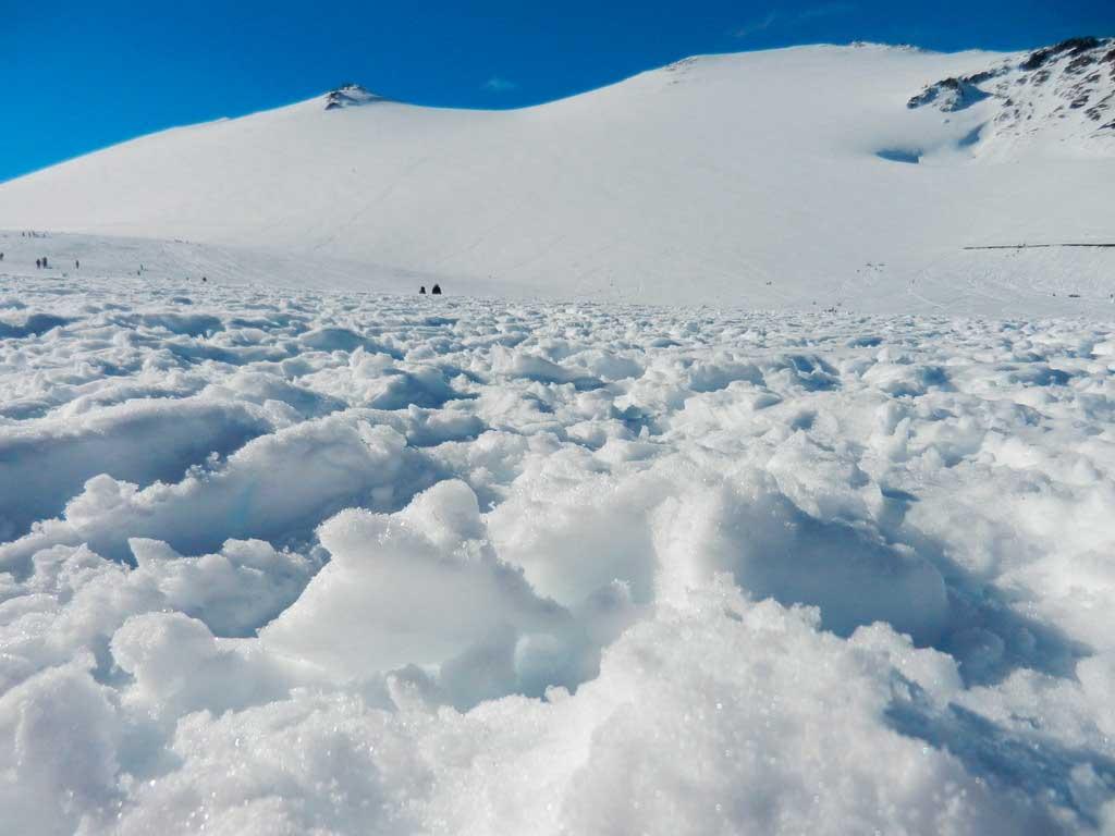 Temporada de neve no Inverno no Chile