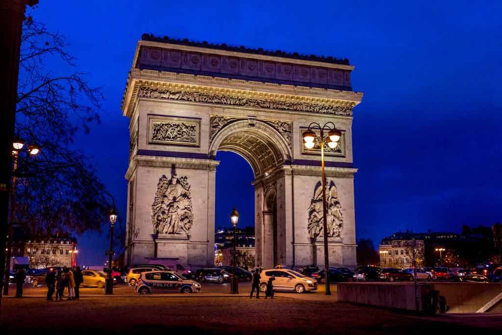 Paris à noite: L'arc Paris