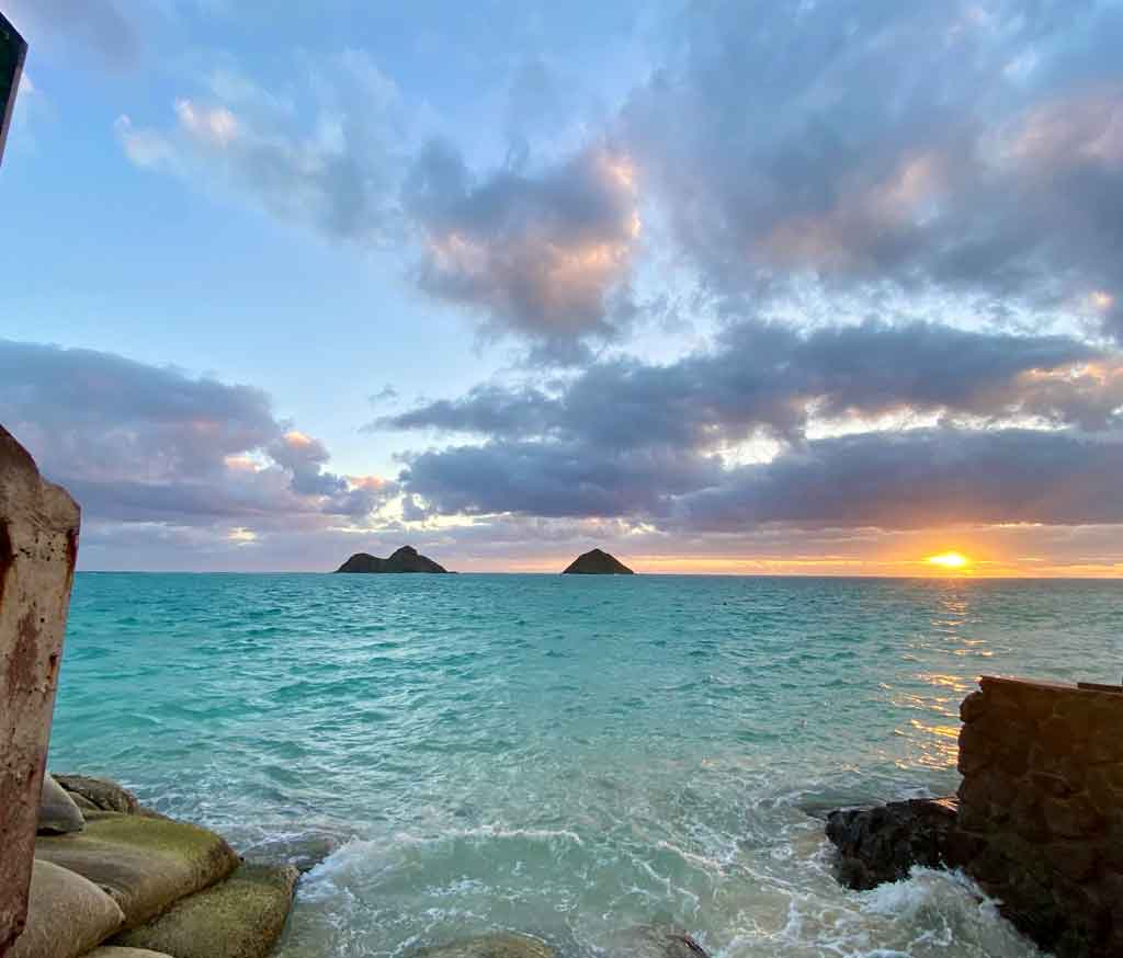 praias do Havai Lanikai