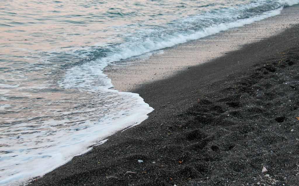 Santorini Grécia: Black Beach