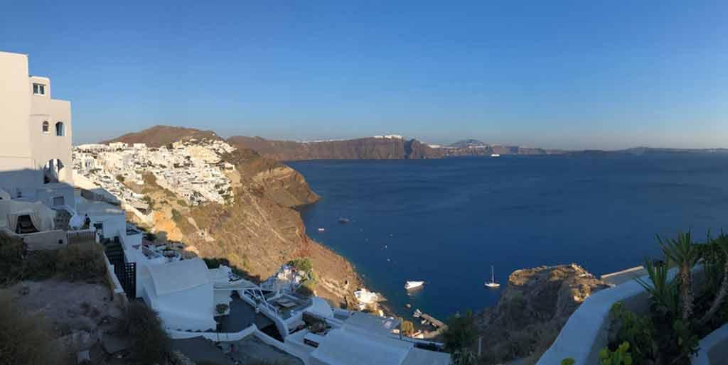 Clima e temperatura em Santorini Grécia