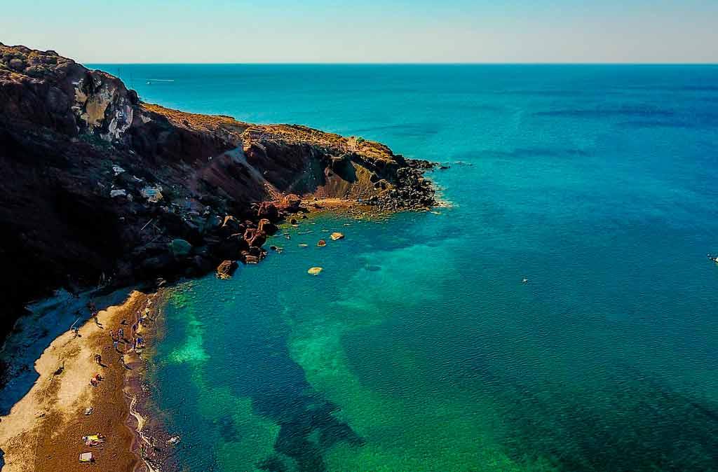Santorini Grécia: Red Beach