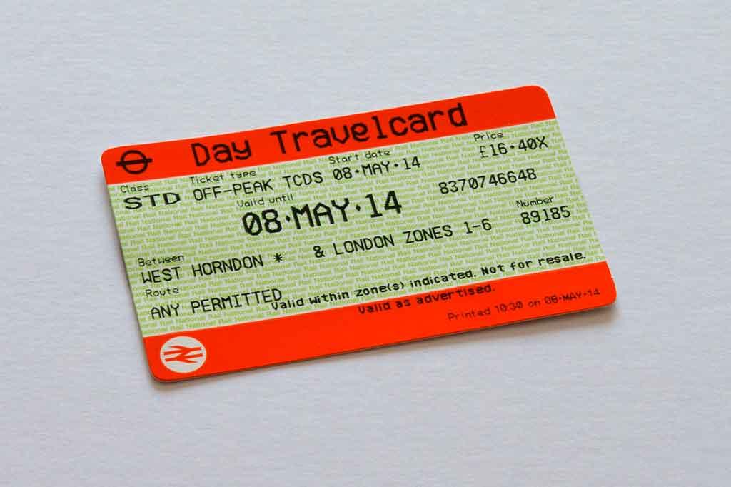 Metrô de Londres: travelcard