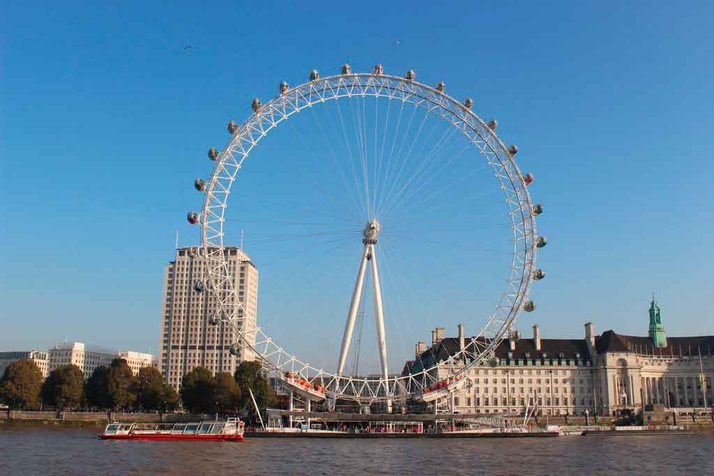 roda gigante de Londres mais passeio de barco