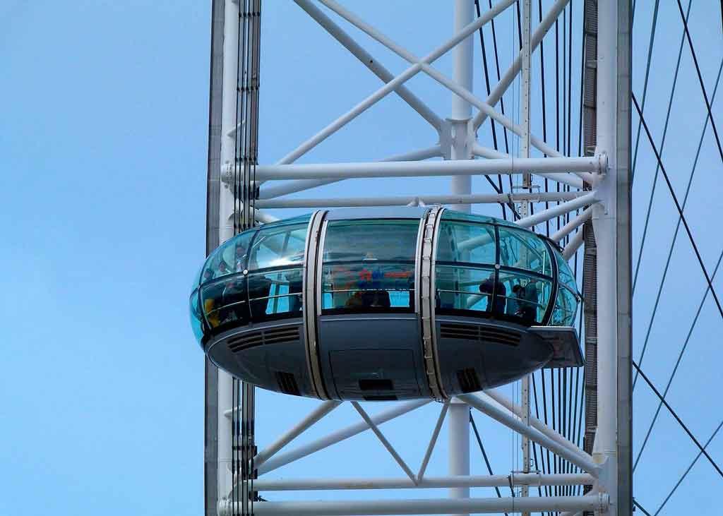 Roda gigante de Londres quantas pessoas cabe na cabine