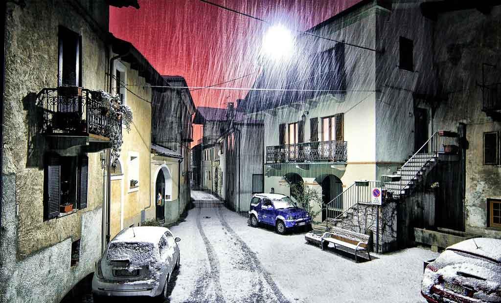 Inverno na Itália Piemonte