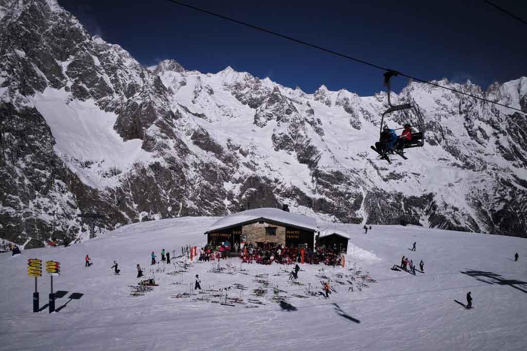 Inverno na Itália Vale D'aosta