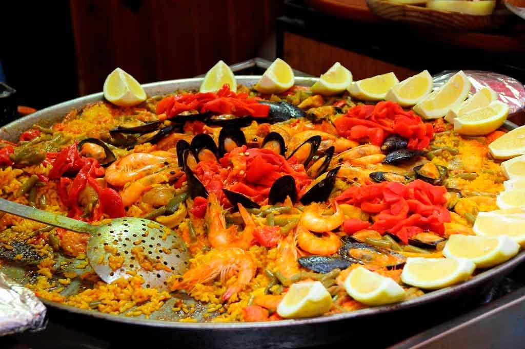 Comidas tipicas da Espanha Paella