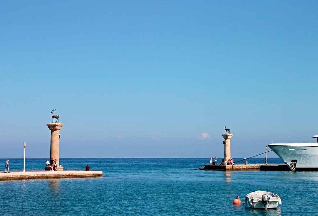 Ilha de Rodes Colosso de Rhodes