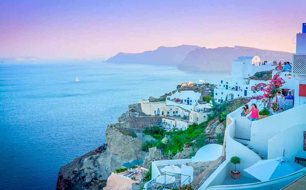 Ilhas do Mediterrâneo santorini
