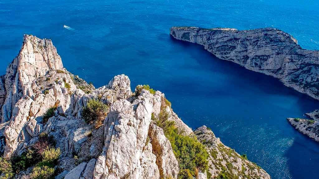 Marselha, França parque nacional dos calanques