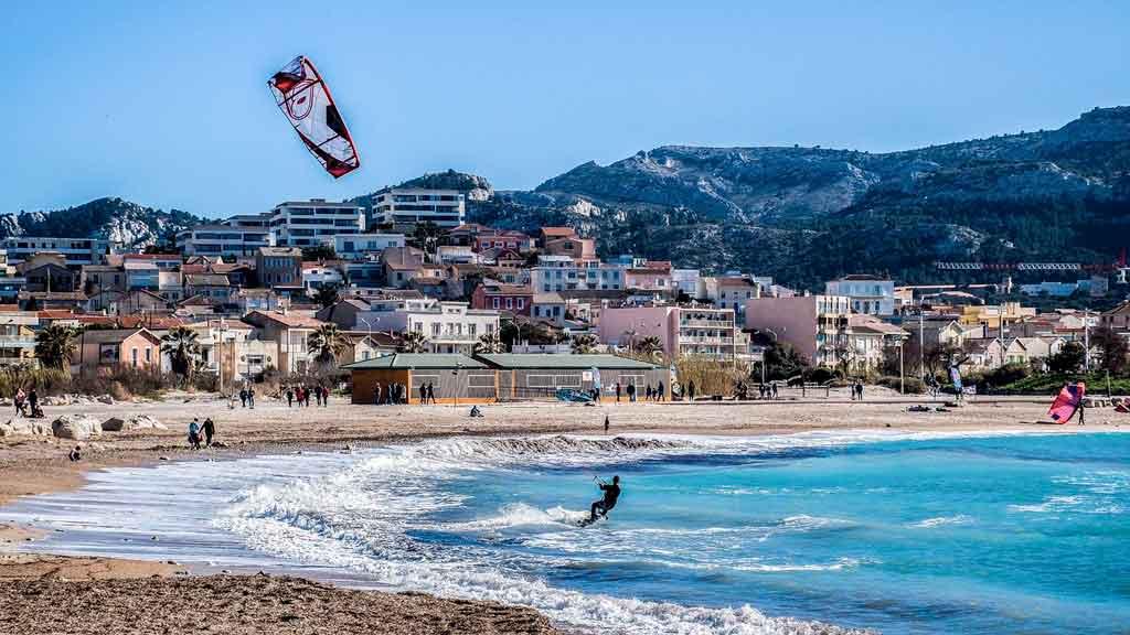 Marselha, França praias