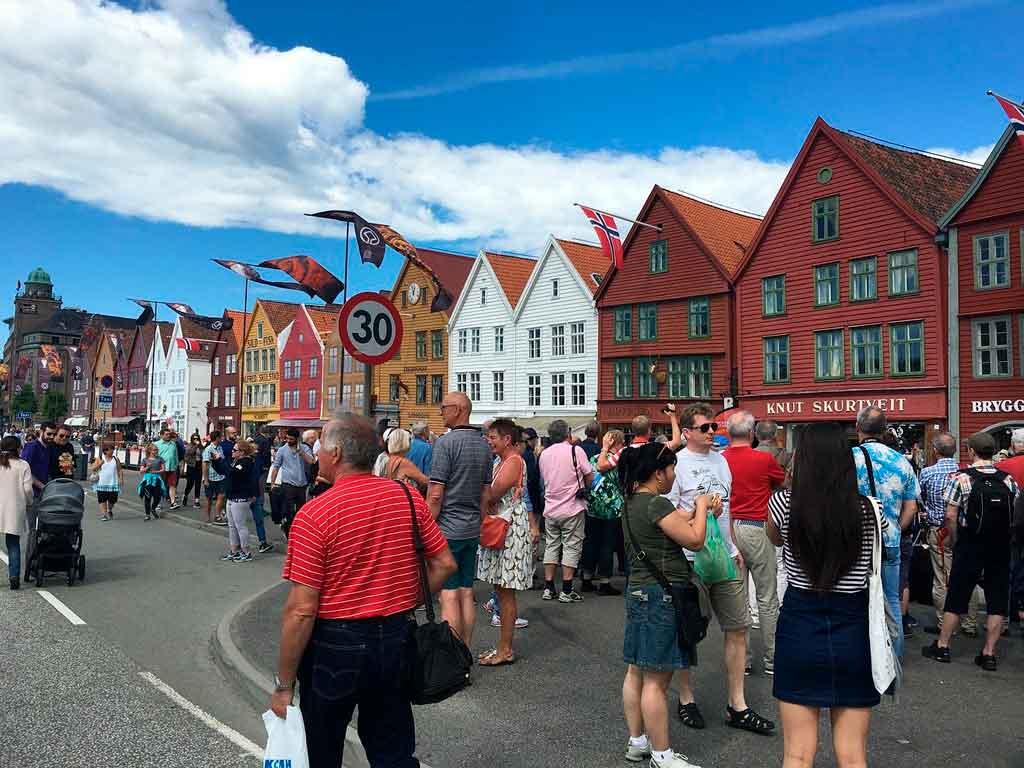 Bergen Noruega mercado de peixes