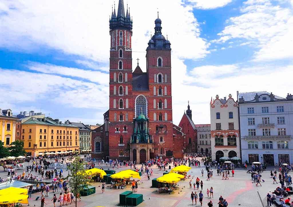Cracóvia Polônia torre da prefeitura