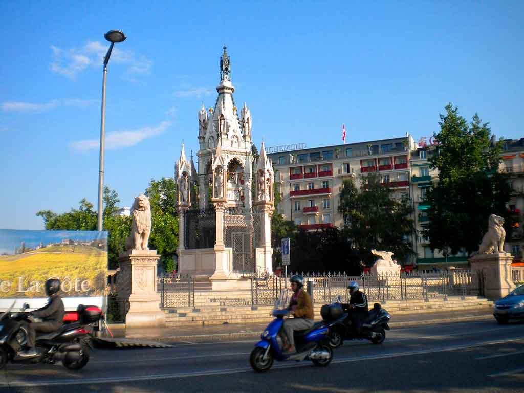 Genebra, Suíça Monumento de Brunswick