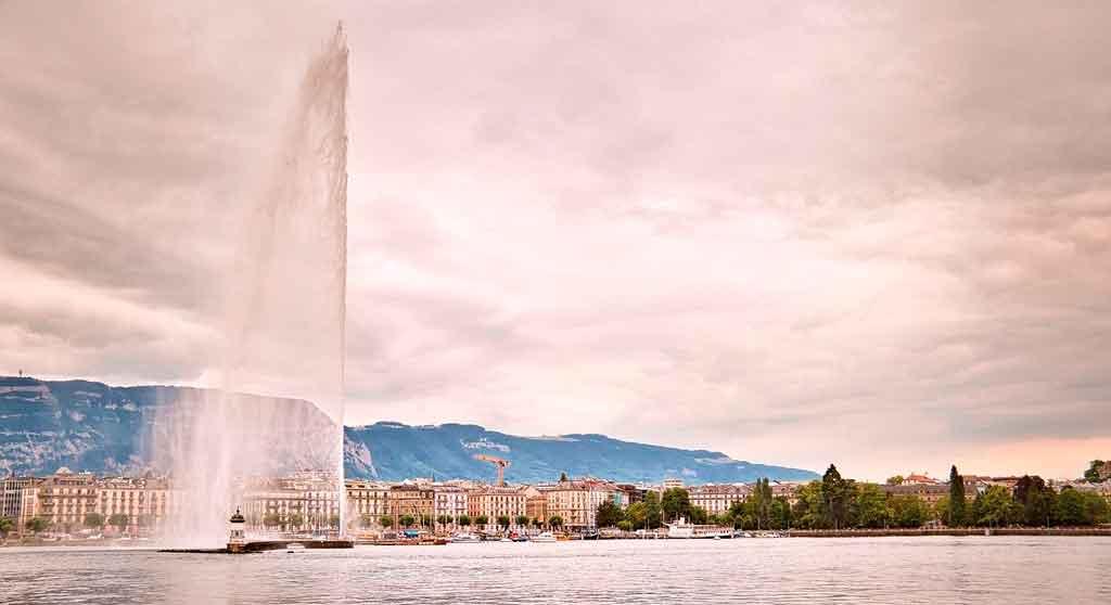 Genebra, Suíça jet d'eau