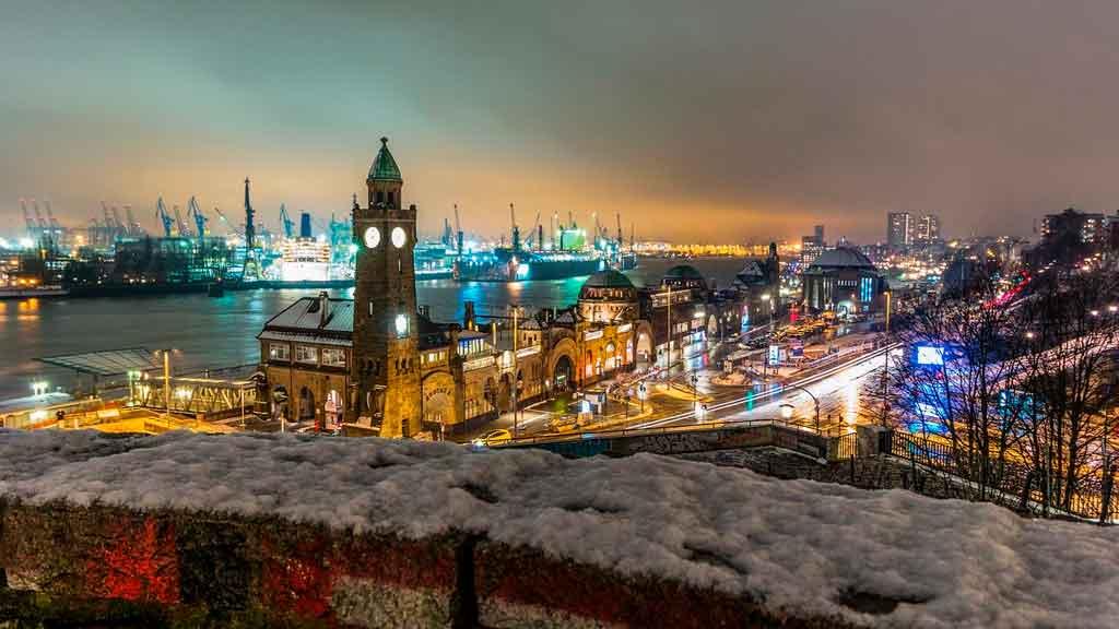 Inverno na Alemanha Hamburgo