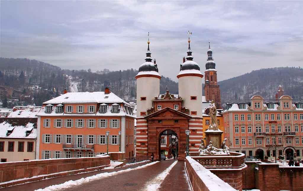 Inverno na Alemanha Heidelberg