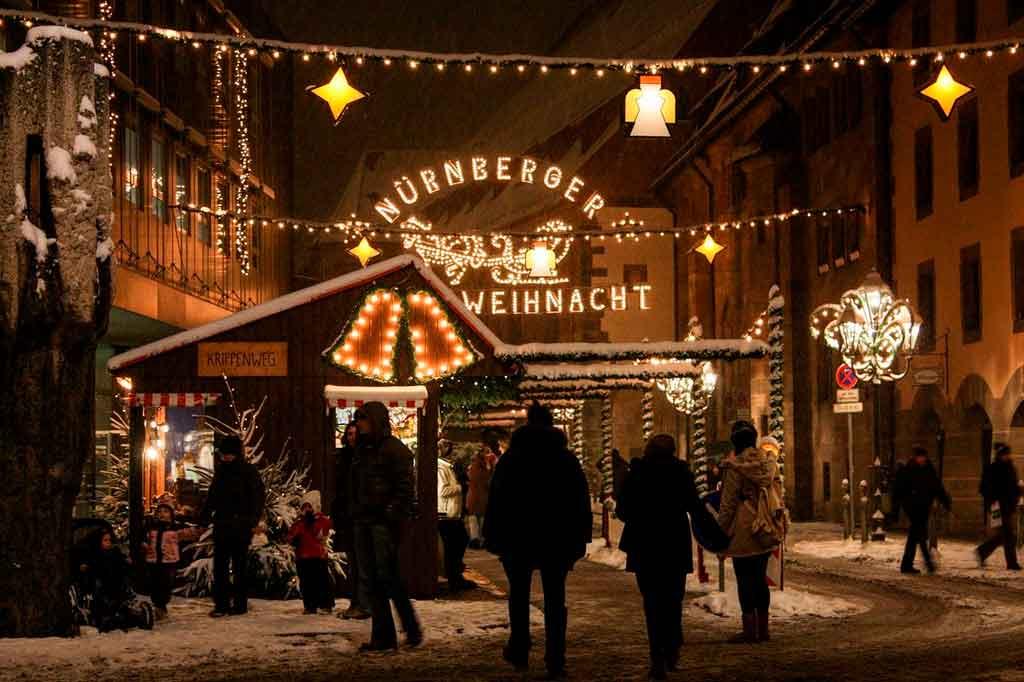 Inverno na Alemanha Nuremberg