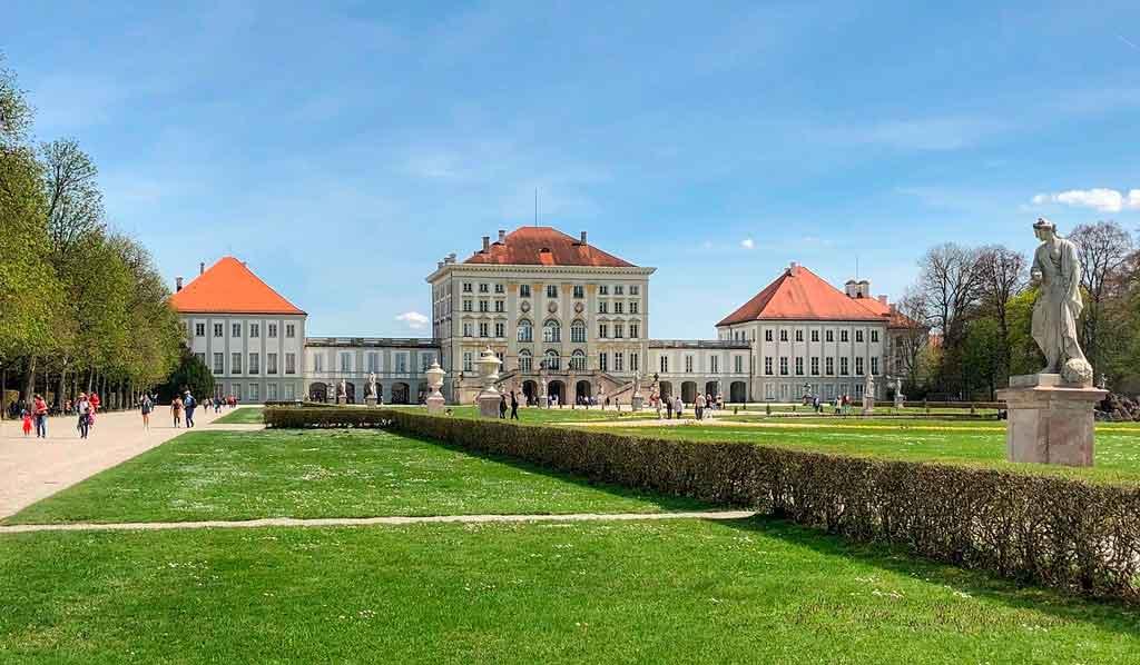 Inverno na Alemanha Palácio de Nymphenburg