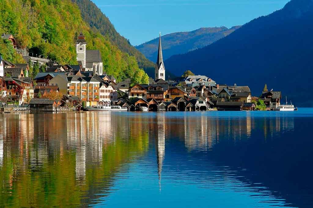 Hallstatt, Áustria lagos