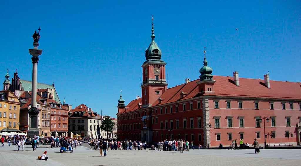 Onde fica Varsóvia Castelo Real