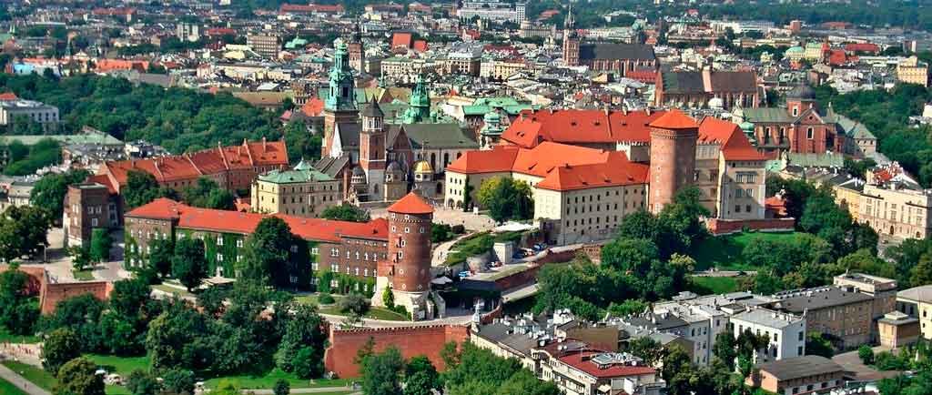 Onde fica Varsóvia Cracóvia