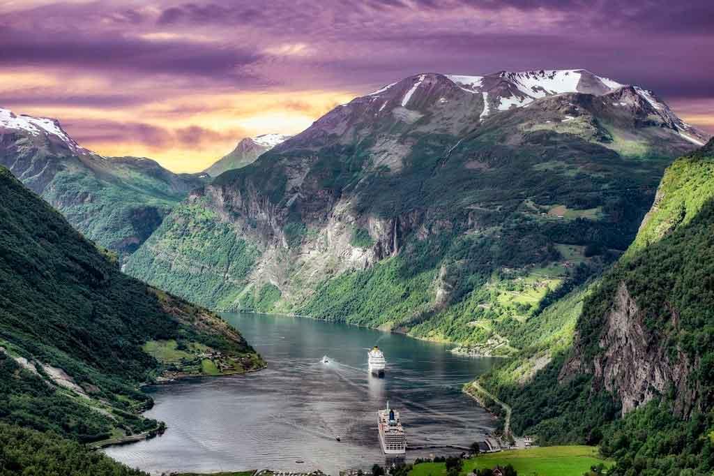 Oslo Noruega Fiordes na Noruega
