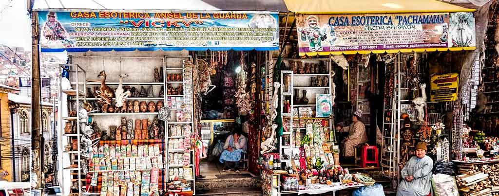 Capital da Bolivia mercado das bruxas