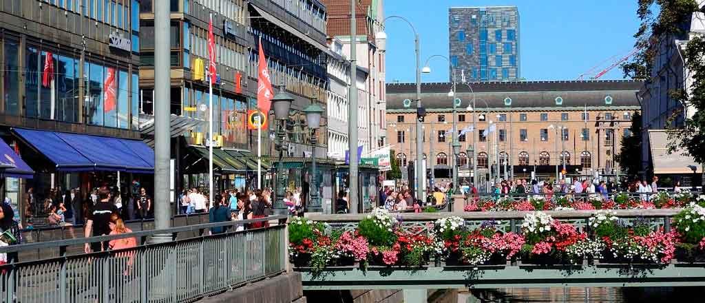 Gotembrugo, Suécia centro da cidade