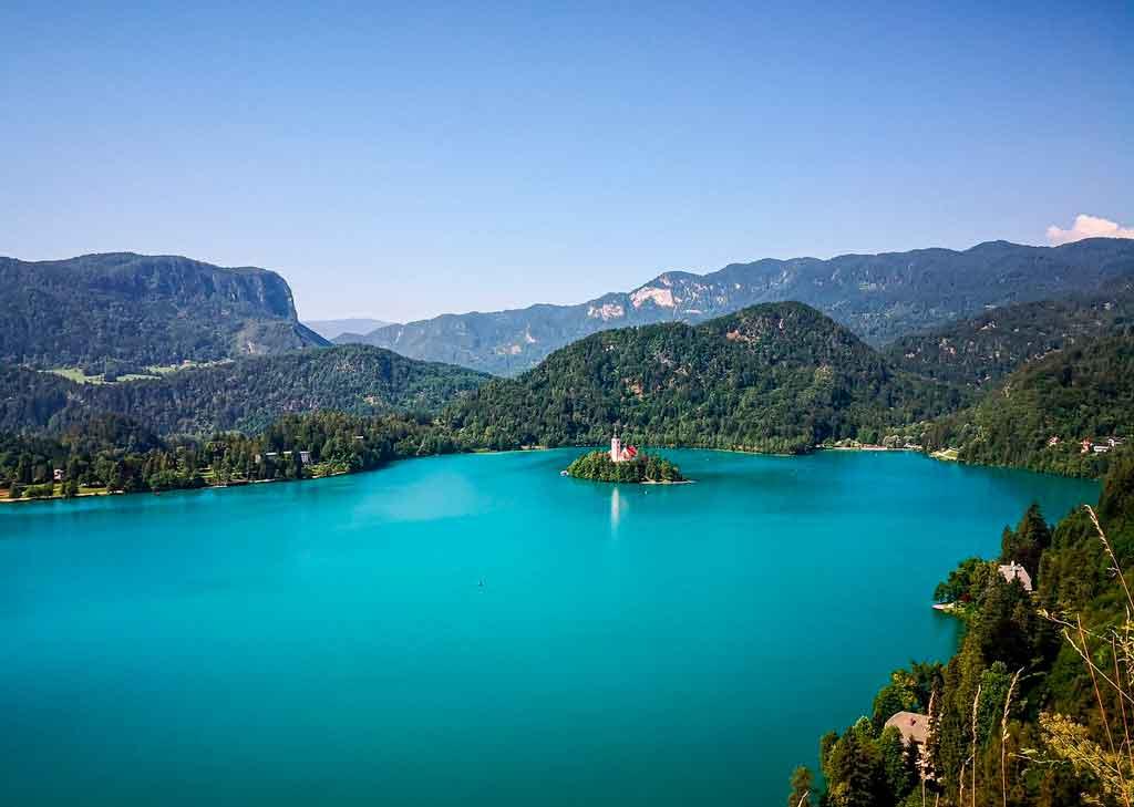 Lago Bled morro straza