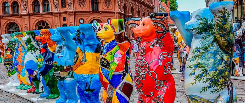 Letônia mapa folclore