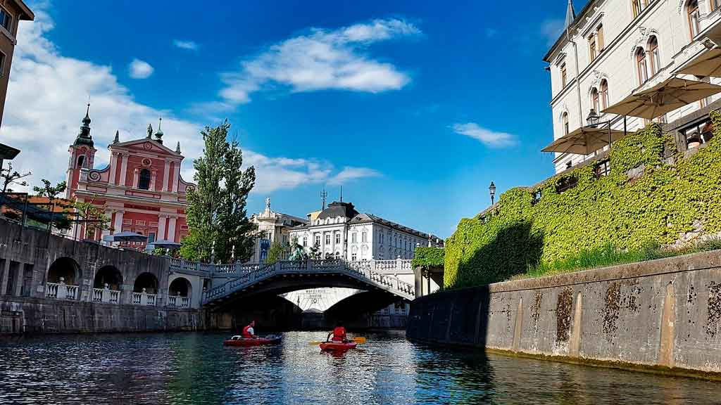 Liubliana o que fazer Rio Ljubljanica